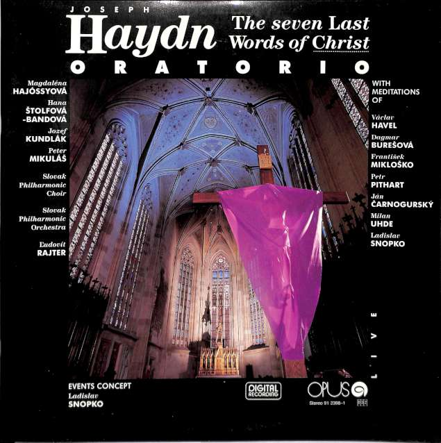 Joseph Haydn - The seven last words of christ (LP)